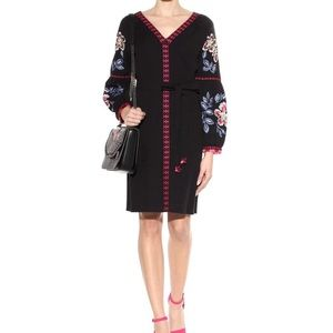 Tory Burch Black with multi color Embroidery Tunic